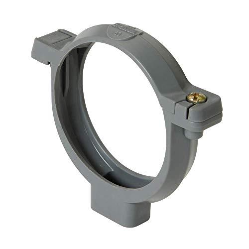 collier à bride - diamètre 80 mm - gris - nicoll cor