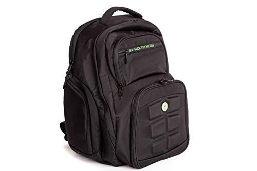 Fitnessexpedition 300 - set di 6 borse sportive con contenitori e pacchetti refrigeranti, colore: nero/blu, verde