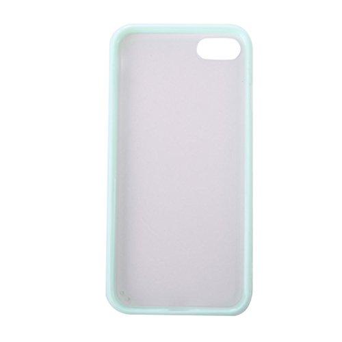 GHC Cases & Covers, Für iPhone 7 TPU + PC matt transparenter schützender rückseitiger Abdeckungs-Fall ( Color : Blue ) Green