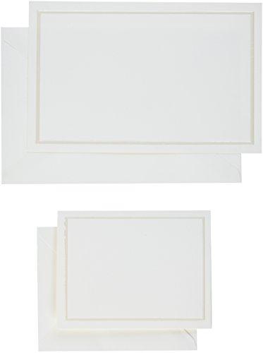 üre Hochzeit Einladungen + Karten, Pearl Elfenbein, 50Stück (61007) (Gartner Studios-karten)