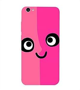 Pink Printed Back Cover for Vivo V5