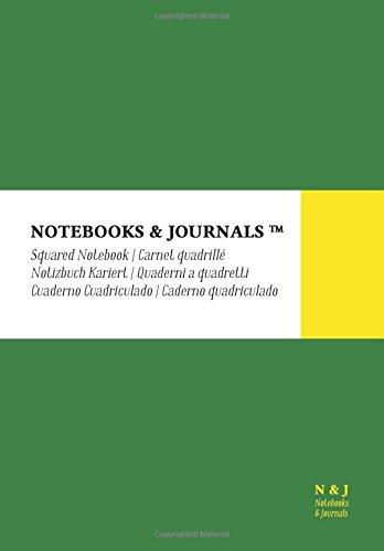 Quaderni Notebooks & Journals, Extra Large, a Quadretti, Verde, Soft Cover: (17.78 x 25.4 cm)(Taccuino appunti,Taccuino di viaggio)