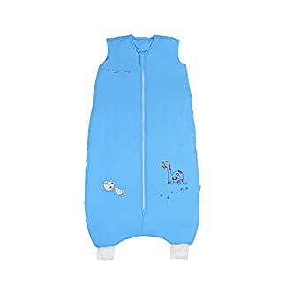 Saco de dormir saco de dormir con patas de bambú en talla 2,5–azul dinosaurios–disponible en 4tamaños diferentes
