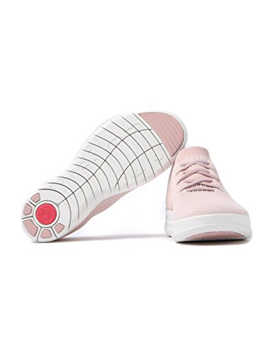 FitFlop Uberknit Blanc De Fard à Joues De Slip-on Sneakers Haut Haut Néon Fard à Joues De Néon / Blanc