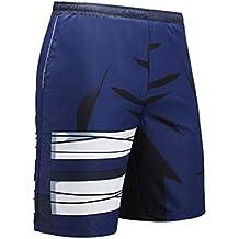 Deportes Verano Hombre Pantalones Cortos Secado Rápido Playa Aire Libre Hombres Impresión Digital Pantalones Cintura Elástica