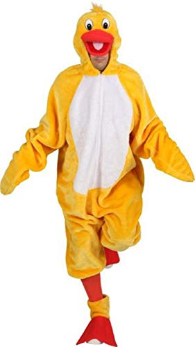 Fancy Me Deluxe Flauschige Ente Ostern Huhn Hirsch Junggesellinnenabschied Party Weihnachten Weihnachten Kostüm Outfit (Flauschige Ente Kostüm)