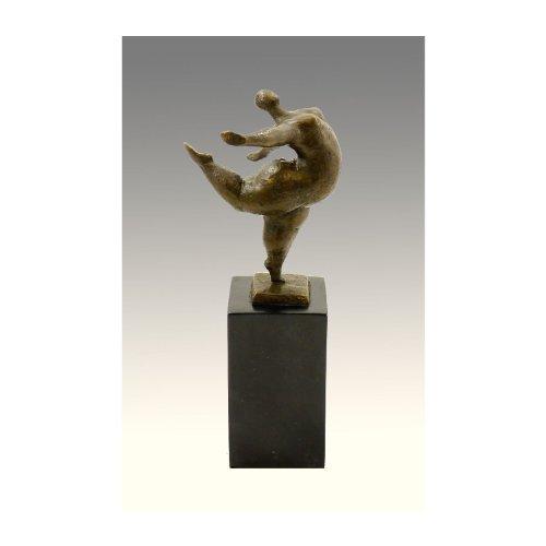 Kunst & Ambiente - Abstrakte Bronzefigur - Beleibte Tänzerin - signiert Milo - Echte Bronze - XXL Tänzerin Skulptur