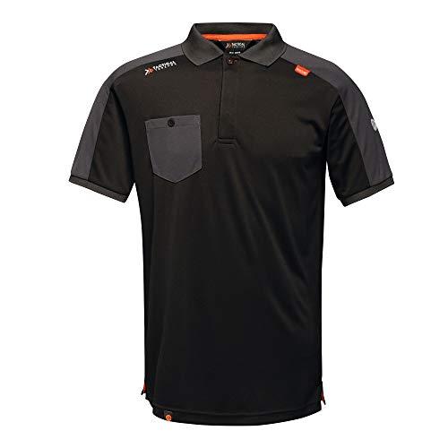 Tactical Threads Professionelles Poloshirt, XXXL, Schwarz, 1 - Top Thread