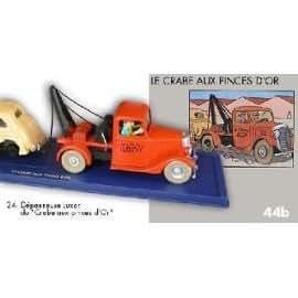 La dépanneuse du crabe aux Pinces d'or. En voiture Tintin. #24. Moulinsart. Atlas. hergé