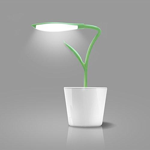 iEGrow Lámpara de Escritorio, LED Lámparas USB 5V 1W Control Táctil Lámparas de Mesa para Niños Leyendo Verde Oscuro