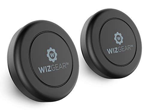 wizgear Universal flach Stick auf (2Stück) Armaturenbrett magnetisch KFZ Halterung Halter für Handys und Mini Tablets mit Fast Swift-Snap Technologie-Extra Slim -