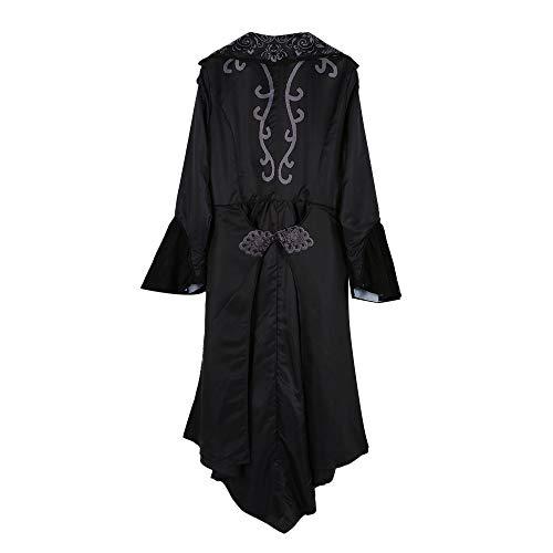 Frauen beiläufiger Verband Patchwork Spitze Vintage mittelalterlichen Aufflackern Ärmel langes Kleid Malloom Damen Satin Gothic Viktorianisches ()