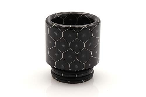 EzVapor 810 Drip Tip Schwarz Black Wide-Bore DTL Mundstück E Zigarette Driptip aus Harz Material Resin 810er Drip Tip Bienenwaben Muster