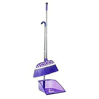 Alien Storehouse Durable Removable Broom und Dustpan Standing Upright Griffe Sweep Set mit Langem Griff, C3