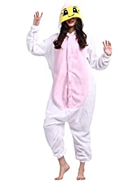 Kigurumi Pijama Animal Entero Unisex para Adultos con Capucha Cosplay Pyjamas Angel Ropa de Dormir Traje