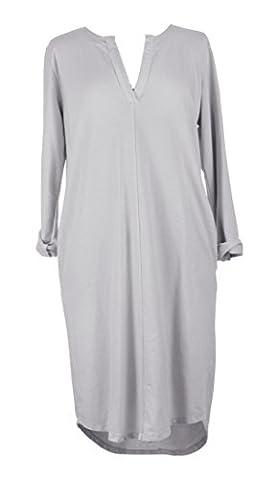 TEXTUREONLINE - Robe - Manches Longues - Femme noir noir Taille unique plus - gris - Taille unique plus