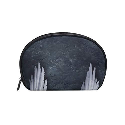Make-up Kosmetiktasche Black Night Angel Wings mit Reißverschluss