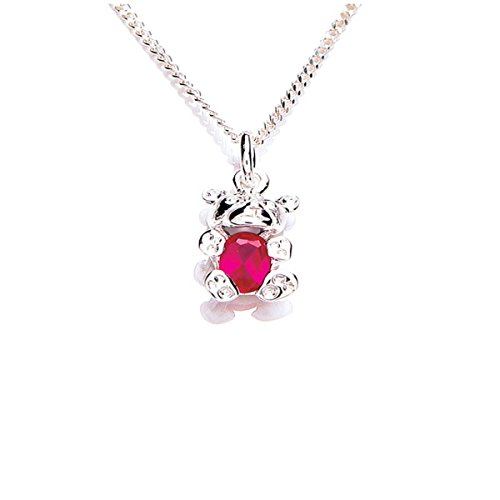 girls-ladies-sterling-silver-teddy-bear-birthstone-colour-stones-july-necklace