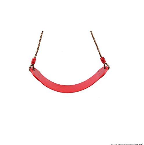 LD@Bambini Outdoor Indoor Hanging Giocattoli Patio Giardino Albero confortevole U Design Forma PE robuste cinghie corda swing Giocattoli cintura di sicurezza , red
