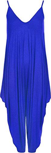 Miss Mopy Fashion Damen Jumpsuit Gr. Small, Blau - Königsblau