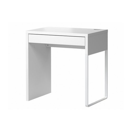 IKEA MICKE Schreibtisch in weiß; (73x50cm)