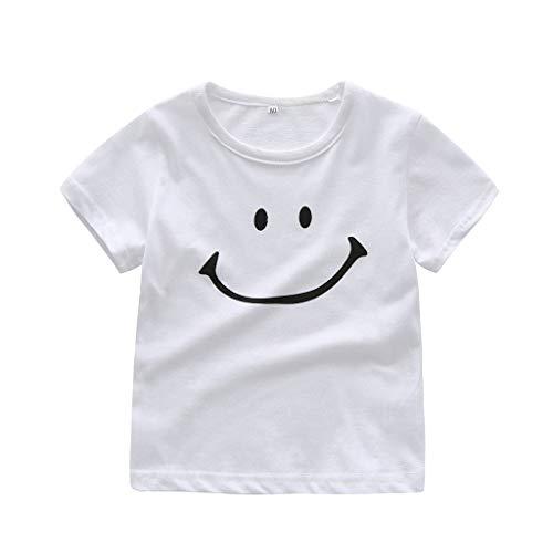 squarex Sommer Neugeborenes Baby Kinder Jungen Mädchen Kinder Lächeln Cartoon Print T Kurzarm T-Shirt Casual Tops Bequeme Kleidung