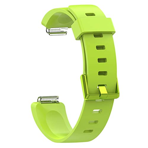 Yuwooben Modisches Ersatz-Armband für Fitbit Inspire\/Inspire Hr aus weichem Silikon für Sport, für Camping, Picknick und andere Outdoor-Aktivitäten - Lime Trumpet