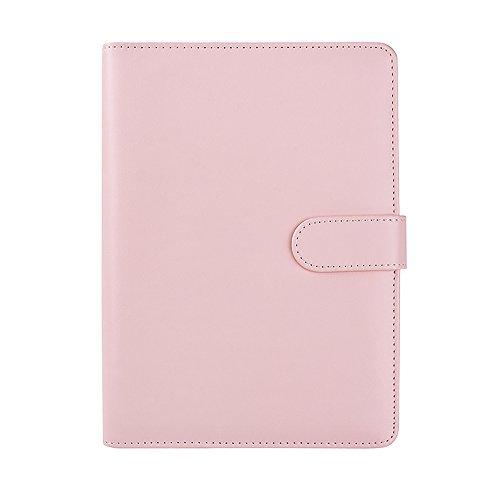 les Leder Refill Notebook Soft Cover Loose Leaf Notizblock Shell Spirale Binder Planer Ersatz Cover Pink A5 (Spirale Notebook)