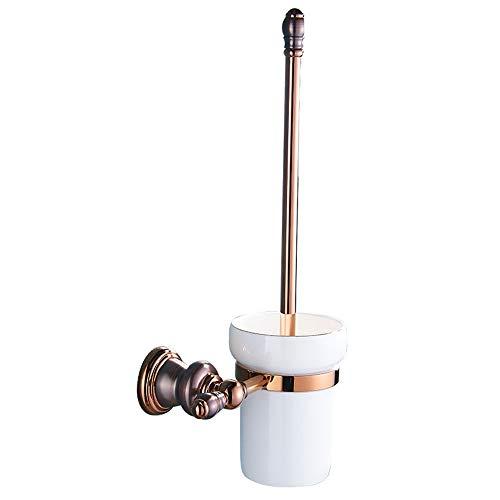 VHVCX ORB Kupferdrahtzug, alle Kupfer und Brown Bronze, Roségold Klobürste Rack, Bad Hardware-Anhänger, antiken WC-Bürstenhalter, WC-Bürste. -