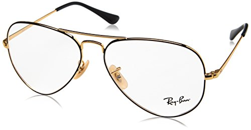Ray-Ban Unisex-Erwachsene 0RX 6489 2946 58 Brillengestelle, Gold On Topo Black