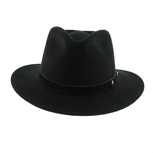 votrechapeau-cappello-borsalino-petrus-in-feltro-pieghevole-e-impermeabile-nero-57-cm