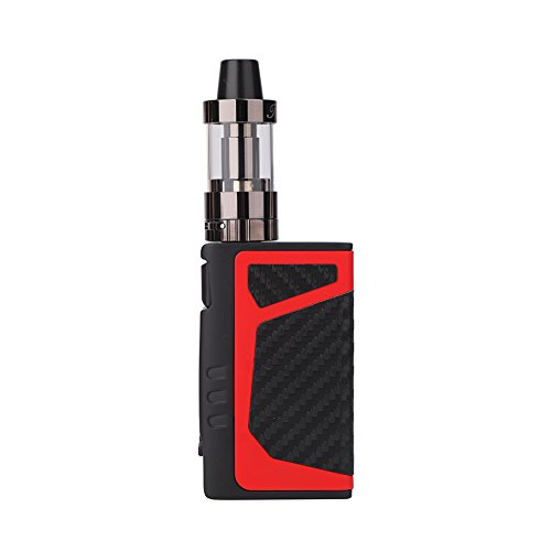 Yeleo Trosetry E Shisha Set E Zigarette Box Mod 80W Einstellbare 2.5ml 2000mAh Erbaut in USB Akku 0.5ΩOhm Tank Airflow Control Zig Rauchen Kein Nikotin(Rot)