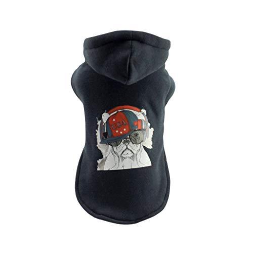 Dragon868 Haustiere Warme Kleidung Welpe Cool Dog Pattern Hood Sweatshirt Herbst Und - Französische Bulldogge Löwe Kostüm