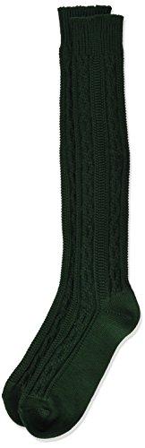 Lusana Jungen Kinder-Kniestrumpf aus Baumwolle Grün (Tanne 19), 38 (Herstellergröße: 38-40)