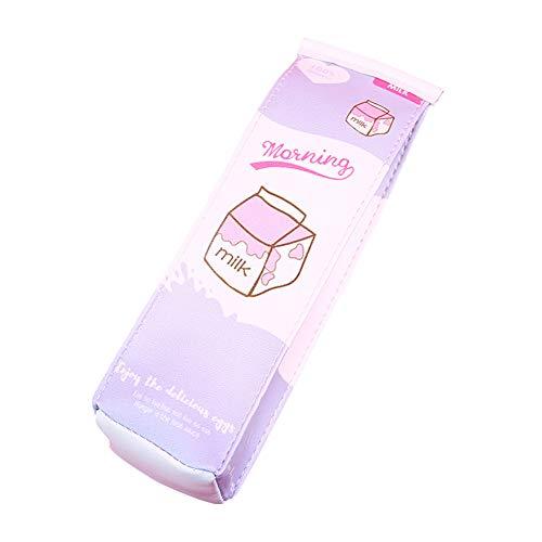 Bleistiftbeutel mit Reißverschluss Stationery Schulsachen Federmäppchen Bleistift Tasche kosmetiktasche Mäppchen für Mädchen Teenager für Schule Büro, Milchmuster ()