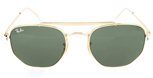 Ray-ban junior 0rb3648 001 54 occhiali da sole, oro (gold/green), unisex-adulto