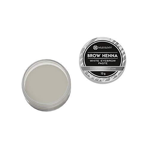 Weiße Paste für das Färben von Augenbrauen - Paste für Augenbrauenfarbe - Cremige und Dicke...