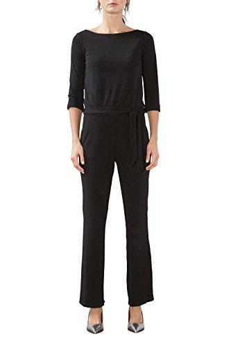 ESPRIT Collection Damen Jumpsuits 017EO1L001, Schwarz (Black 001), 38 (Herstellergröße: M)