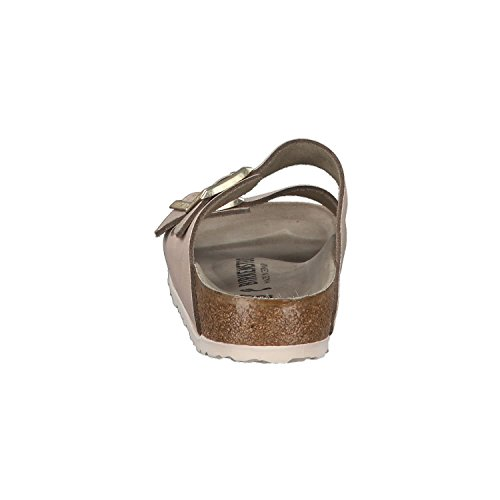 BIRKENSTOCK Damen Arizona Sandalen, Mehrfarbig, (étroit) Washed Metallic Rose Gold