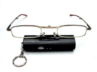 folding-gold-metal-frame-reading-glasses-black-metal-case-on-keyring-5-strengths-kf1-35