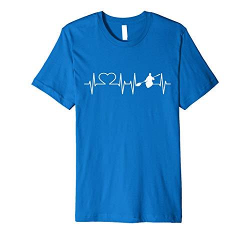 Herzschlag Kajak T Shirt Kanu fahren T-Shirt RIVER Kanu Tee (Kajak-t-shirts)