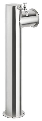 hochwertige Edelstahl Wasserzapfsäule/Edelstahlsäule, rund Ø 150mm mit Schlauchhalterung, Höhe 100cm