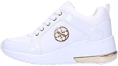 Guess Calzado Deportivo Mujer ELE12 Sneaker JARYDS4 para Mujer Blanco 39 EU