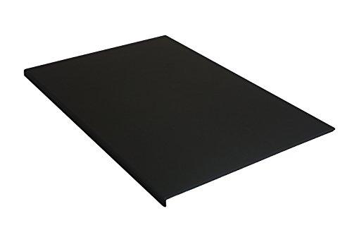 Schreibtischunterlage 880 x 590 mm Leder mit Kantenschutz gewinkelt/90° abgewinkelt schwarz für...