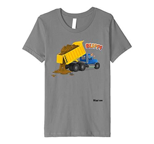 Kinder Kids blippi Dump Truck T-Shirt für Kinder (Truck Dump Red)