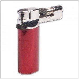 Feuerzeug Turbo Gas Brenner - in rot - bis zu 1350 Grad - für creme brulee und Shisha Kohle