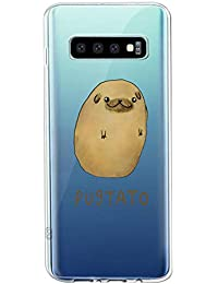Oihxse Transparente Funda para Samsung Galaxy S7 Ultrafina Silicona Suave TPU Carcasa Interesante Perro Patrón Flexible Protectora Estuche Antigolpes Anti-Choque (A10)