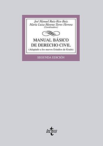 Manual básico de Derecho Civil (Derecho - Biblioteca Universitaria De Editorial Tecnos)