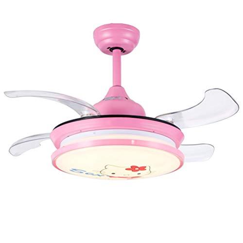 WWBOX Ventiladores invisibles, luces colgantes, ventiladores de techo para niños y niñas con lámpara...