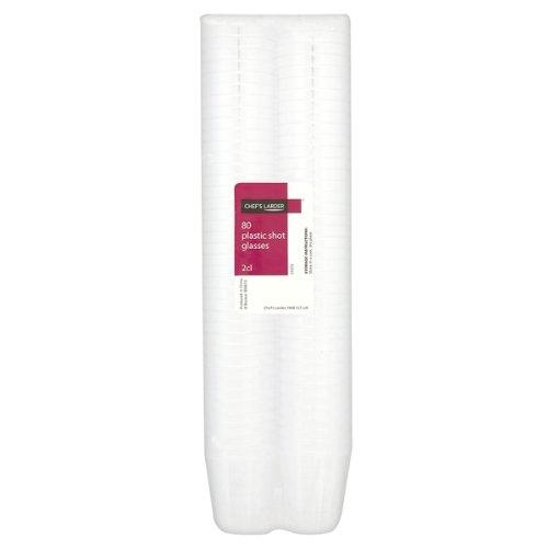 Kunststoff Schnapsgläser, 2cl, 30ml, 80 Stück farblos